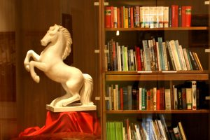 Weisses Rössl Bücherschrank